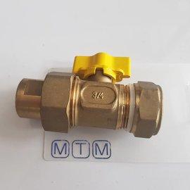 "Gastec Gastec Ball valve 3/4"" DN20  compression"