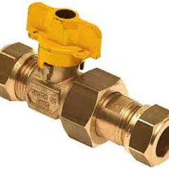 "Gastec Ball valve 1/2"" DN15  compression"