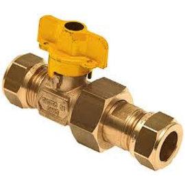 "Gastec Gastec Ball valve 1/2"" DN15  compression"