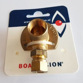 "Boat Vision Wall plate 3/8"" with 8 mm compression fitting"