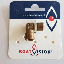 "Boat Vision Codo 90 ° macho-macho 1/4 ""x 8 mm"