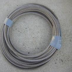 Inox staaldraad 7/19 x 12mm x 30 meter