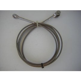 Inox wire rope rigging with 2 terminals 5 x 2500 mm.