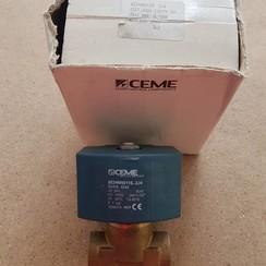 """Válvula de solenoide 1/2 """"x 1/2"""" máx. 7 bar 24V-80W CEME"""