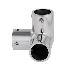 3-Way corner TEE Inox handrail fitting 22mm