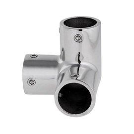 RC-Inox 3-Way corner TEE Inox handrail fitting 22mm