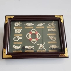 Sailors knot board with frame 17 x 12 cm