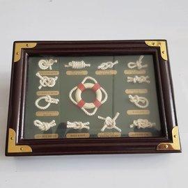 Cuadro de nudos de marineros 17 x 12cm