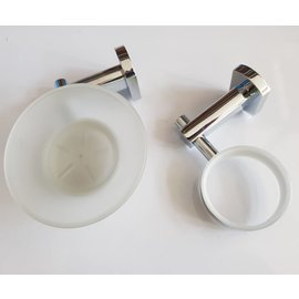 Set of soap dish and glass support