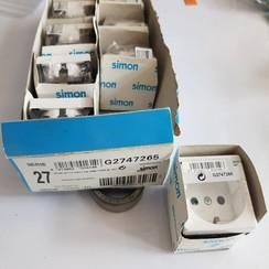 Simon Socket base white 2P+Gr. G2747265