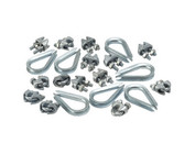 Wire clips & thimbles galvanized