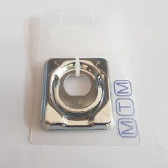 Deck hatch ring for lock fitting Inox 50 x 55mm