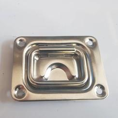Deck hatch ring Inox 76 x 57mm