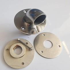 Dek kabeldoorvoer 26mm Inox , base 80mm