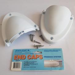 Dock Edge Eind cap PVC wit (2 pak)  1013-F