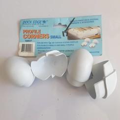 Dock  Edge Corner profiel Kleinl PVC wit (4 pak) 1049-F