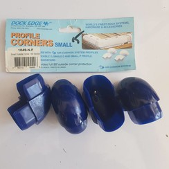 Dock Edge Corner profile Klein PVC Blauw (4 pak) 1049-N-F