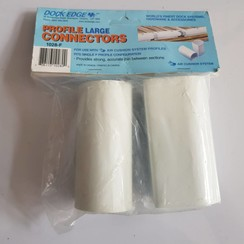 Dock Edge  Connector Large PVC White (2 pack) 1028-F