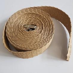 Sjorband met natural look 50mm x 10 meter lang