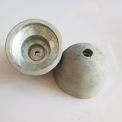 Boegschroef Zink anode conisch 56 x 66mm H=60mm