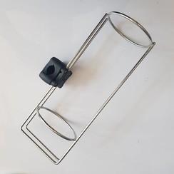 Fenderhouder enkel met railing steun Inox 20-25mm