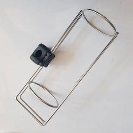 Plastimo Guardabarros Fender guardabarros Inox con soporte de barandilla de 20-25 mm