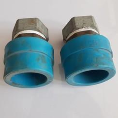 """Polypropylene adapterring 102 mm met messing adapter naar 2 1/2 """" NIRON PPR"""