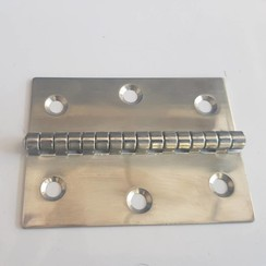 Polished hinge Inox 60 x 80mm