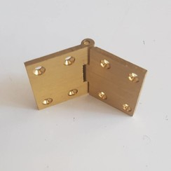 Brass spring loaded hinge 64 x 38mm