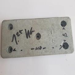 Montage anode zink 155x70x10mm