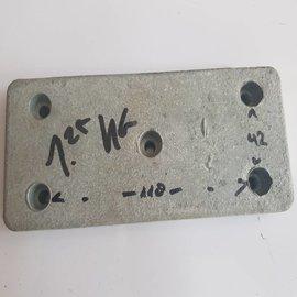 Ánodo zinc montaje 155x70x10mm