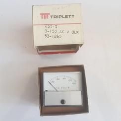Triplett 150VAC panel voltmeter