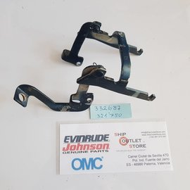 OMC Evinrude Johnson 332687 - 321750 OMC Locking lever & Link