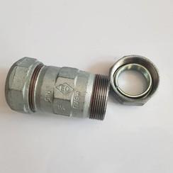 """EO 1 1/4"""" DIN compression nipple PE hose"""