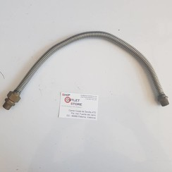 "Flex Inox water hose with 3/8"" connections L=500mm."