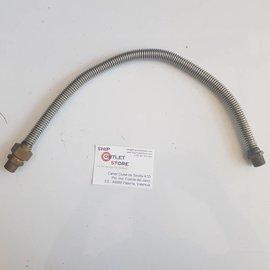 "Flexinox Manguera de agua Flex Inox con conexiones de 3/8"" L = 500 mm."