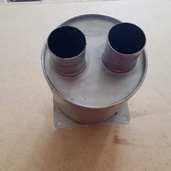 Vetus exhaust muffler silencer Inox with 50 mm connection
