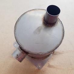 Silenciador de escape de Inox con manuera coneccion de 37 mm