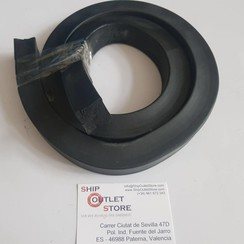 Perfil cuadrado de espuma de goma masiva de 25 x 25mm L=125cm