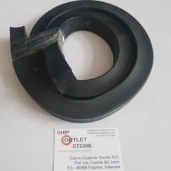 Square massive foam rubber profile 25 x 25mm L=125cm