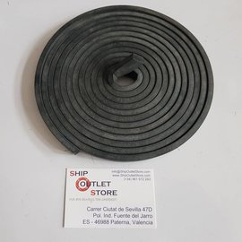 RubFlex Neoprene foam  plain strip 15 x 8mm x 4 meters