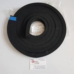 Neoprene foam  plain strip 25 x 19mm x 4 meter