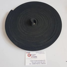 RubFlex Neoprene foam  plain strip 19 x 10mm x 6 meter