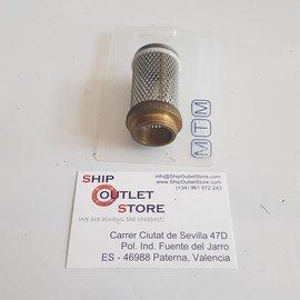 """MTM Cesta de filtro Inox con accesorio roscado de 3/4 """""""