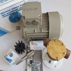 "Jabsco 22870 2001-2003  Bomba de agua kit de bronce de 1 ""con motor de 230/400V-3Ph"