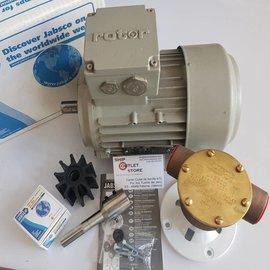"Jabsco Jabsco 22870 2001-2003  Bomba de agua kit de bronce de 1 ""con motor de 230/400V-3Ph"