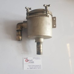 "Sea water strainer bronze 1"" connection 120 x120mm"