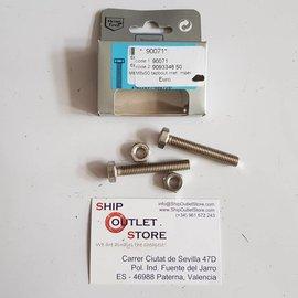 MarineTech Tornillo de cabeza hexagonal con tuerca INOX M8 x 50