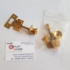 Adjustable brass door lock