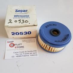SEPAR 20530  Elemento del filtro de combustible